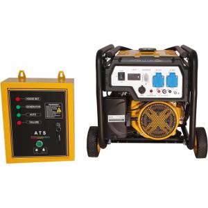 Generator curent electric automat pe benzina Stager FD 3600E+ATS, 2.8KW, pornire electrica, kit automatizare1