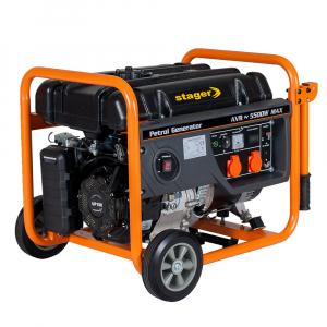 Generator curent electric pe benzina Stager GG 6300W, 5KW, sfoara0
