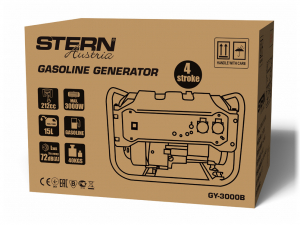 Generator curent electric pe benzina Stern GY3000B, 2.500/3000 W, 212cm3, 15L, 12 ore autonomie1