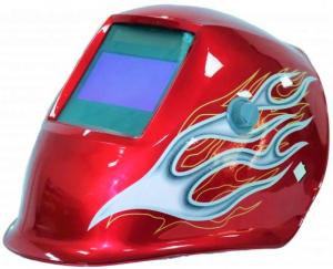 Masca de sudura automata Intensiv Red XL, reglabil, 4 senzori, solar+baterie, 0.04ms, DIN16