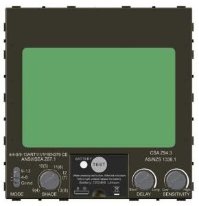 Masca de sudura automata Intensiv 9-13 Titan, reglabil, 4 senzori, solar+baterie, 0.04ms, DIN164