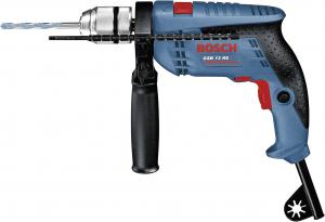 Masina de gaurit cu percutie si insurubat (bormasina) Bosch GSB 13 RE cu set 4 burghie Bosch MultiConstruction, 600 W, 2800 RPM1