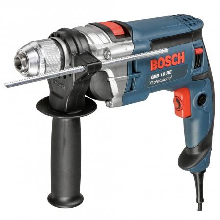 Masina de gaurit cu percutie si insurubat (bormasina) Bosch GSB 16 RE, 750 W, 2800 RPM0