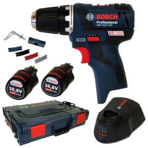 Masina de gaurit si insurubat (bormasina) Bosch GSR 10,8-2-LI, 10.8 V, 2 Ah, 30 Nm, 2 acumulator si incarcator0