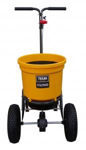 Carucior pentru imprastiat (dispersor) Texas CS2500, 25l, 2metri, pentru seminte/ingrasamant/nisip/sare de drum2