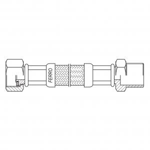 "Racord flexibil pentru apa FERRO PWS81, 1/2""x1/2"" FI-FE  90cm1"
