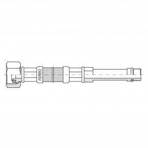 Racord flexibil pentru baterii FERRO WBS14,  3/8xM10x1, cu capat lung L=50cm1