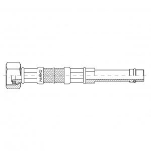 Racord flexibil pentru baterii FERRO WBS23, 1/2xM10x1, cu capat lung L=35cm1