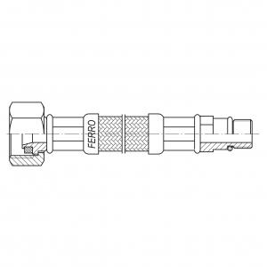 Racord flexibil pentru baterii FERRO WBS84, 1/2xM10x1, cu capat scurt L=80cm1