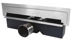 Rigola dus FERRO OLWS1, inox perete Wall Slim L= 300 mm cu sifon DN40/500