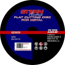 Set 5 discuri polizor unghiular Stern G23020, 230mm, 2.5mm, metal
