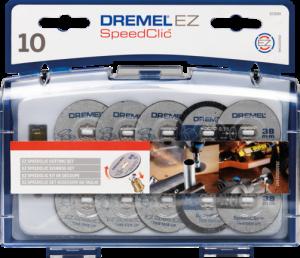 Set freze Dremel EZ SPEEDCLIC SC690, cutie cu 10 accesorii + mandrel Speedclick
