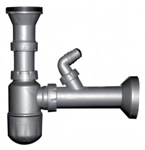 Sifon cu ventil fara preaplin FERRO NSP45, DN 40, 49 mm, pentru spalator0