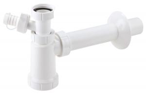 Sifon lavoar FERRO 432.PP, 1 1/4x40 mm PP alb tip butelie cu rac, mas, sp,0