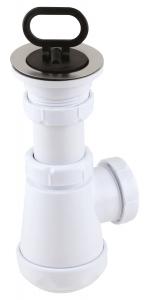 Sifon lavoar FERRO 441.P, 1 1/2x40/50 mm, PP alb tip butelie cu ventil  si dop0
