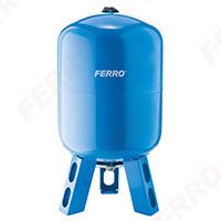 Vas expansiune stativ vertical FERRO CWU60S, 60 litri, 10 bari pentru instalatii de climatizare si apa rece0