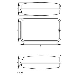 Vas expansiune suspendat plat rectangular FERRO CO8PR, 8 litri, 3 bari pentru instalatii de incalzire1