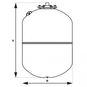 Vas expansiune suspendat vertical FERRO SO12W,, 12 litri, 10 bari pentru instalatii solare1