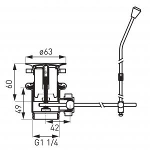 "Ventil automat din plastic FERRO K39TW, 1 1/4"" pentru lavoar, crom1"
