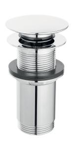 """Ventil lavoar FERRO Rotondo S285-WBP, click-clack din alama  1 1/4"""", cu preaplin, crom0"""