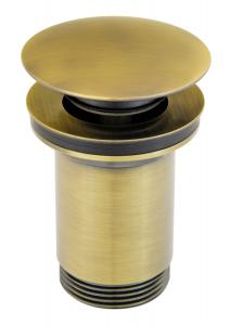 """Ventil lavoar FERRO Rotondo S285BR, click-clack din alama  1 1/4"""", cu preaplin, bronz0"""