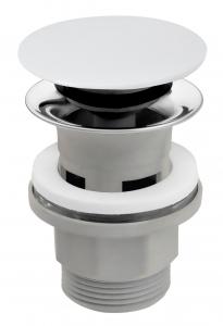 """Ventil lavoar FERRO S288PPC, click-clack din ABS  1 1/4"""" cu preaplin, ceramic alb0"""