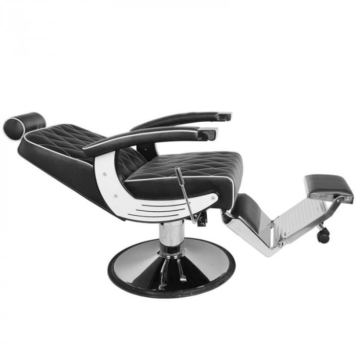 Scaun bărbier / frizer GABBIANO IMPERIAL BLACK [4]