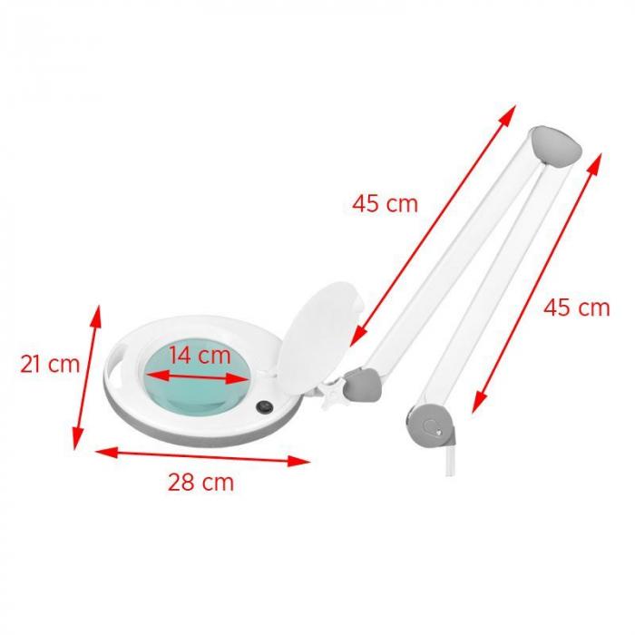 Lampă lupă ELEGANTE 6014 60 LED SMD 5D pentru bloc de lucru [6]