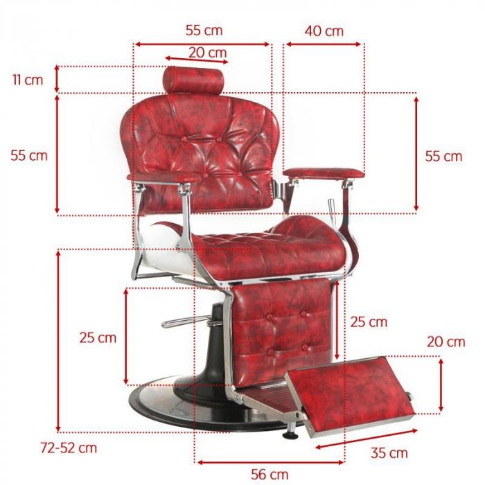 Scaun frizerie Premier Red [3]