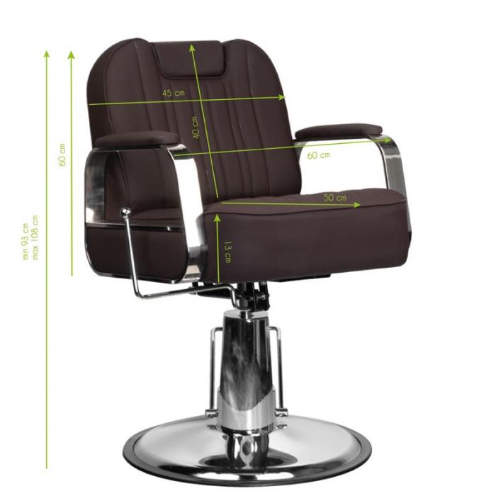 Scaun frizerie Rufo Brown [4]