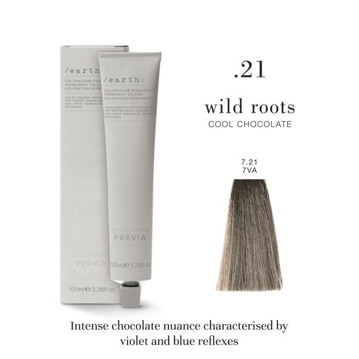 Vopsea permanenta Previa Earth 7.21 7VA Medium Cool Chocolate Blonde 100 ml [0]