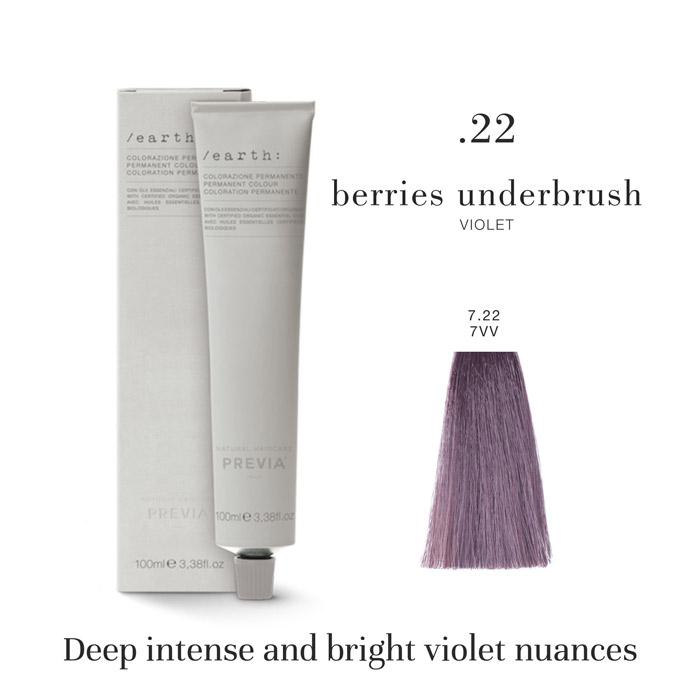 Vopsea permanenta Previa Earth 7.22 7VV Medium Deep Violet Blonde 100 ml [0]