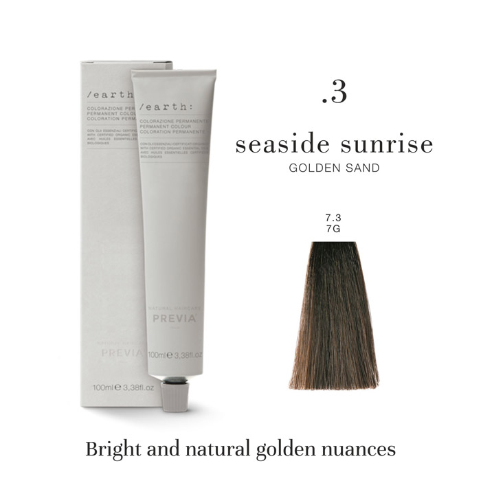 Vopsea permanenta Previa Earth 7.3 7G Medium Seaside Sunrise Golden Sand 100 ml [0]