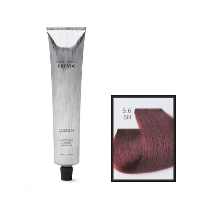 Vopsea permanenta Previa Vibrant Shiny Colour 5.6 5R Light Red Brown 100 ml [0]