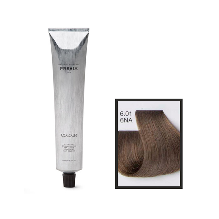 Vopsea permanenta Previa Vibrant Shiny Colour 6.01 6NA Dark Natural Ash Blonde 100 ml 0