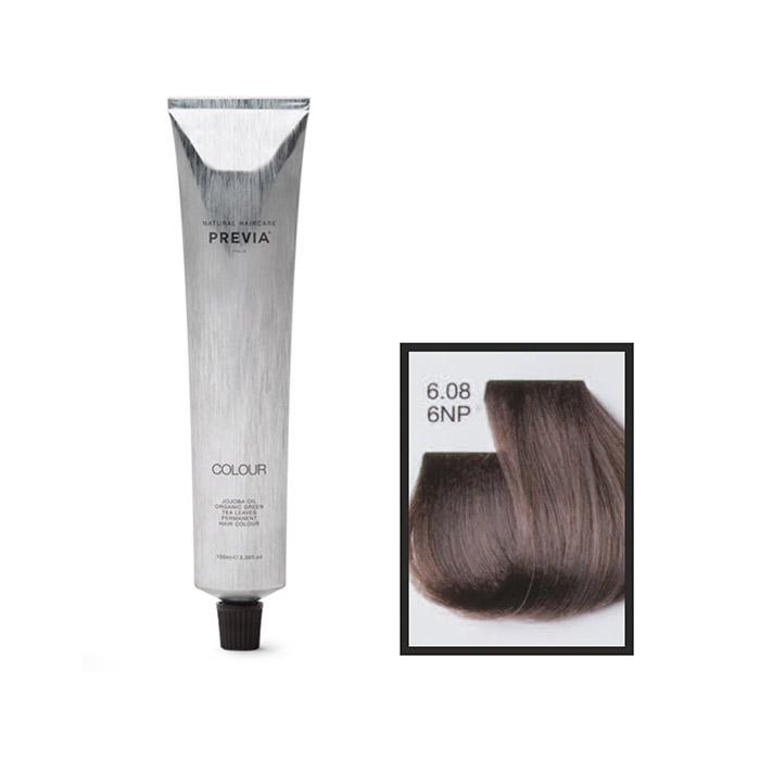 Vopsea permanenta Previa Vibrant Shiny Colour 6.08 6NP Dark Natural Blonde Pearl 100 ml [0]