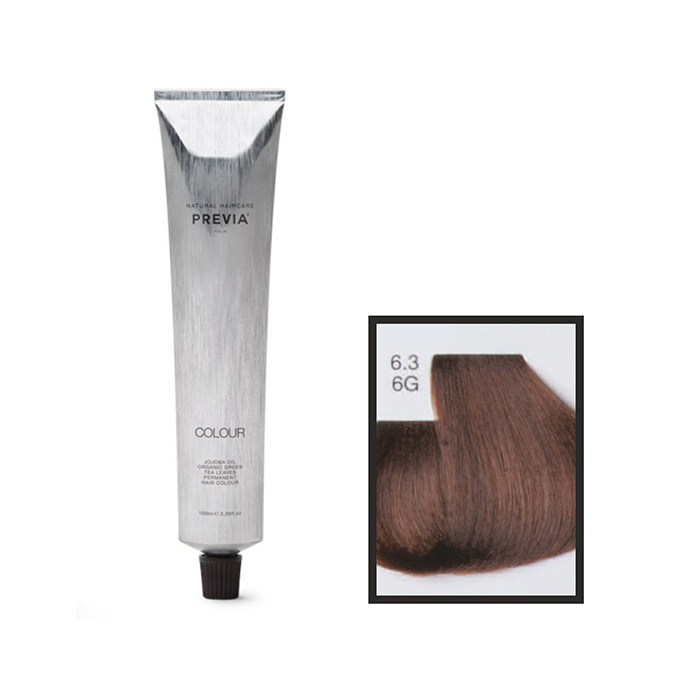 Vopsea permanenta Previa Vibrant Shiny Colour 6.3 6G Dark Golden Blonde 100 ml [0]