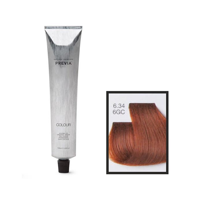 Vopsea permanenta Previa Vibrant Shiny Colour 6.34 6GC Dark Golden Copper Blonde 100 ml [0]