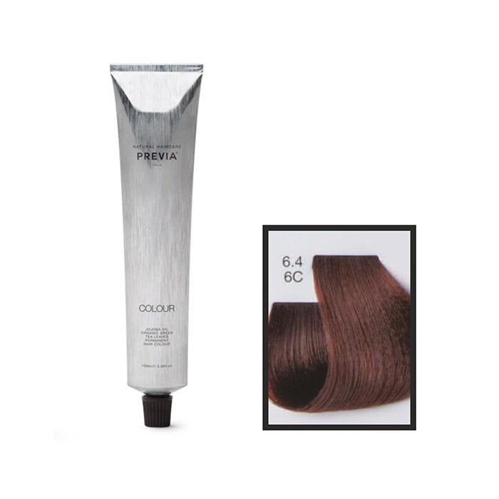 Vopsea permanenta Previa Vibrant Shiny Colour 6.4 6C Dark Copper Blonde 100 ml [0]