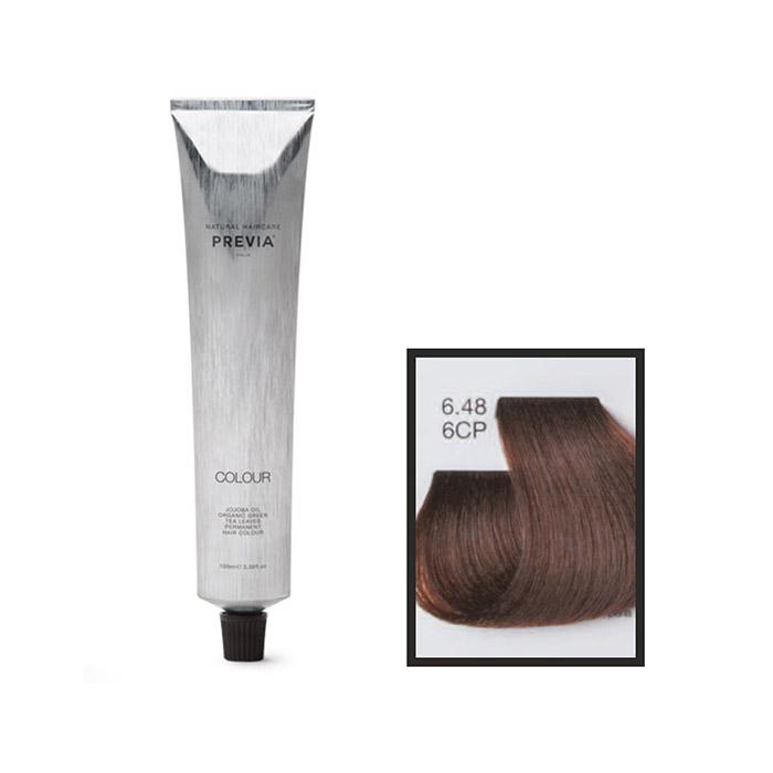 Vopsea permanenta Previa Vibrant Shiny Colour 6.48 6CP Dark Copper Pearl Blonde 100 ml [0]