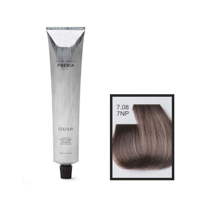 Vopsea permanenta Previa Vibrant Shiny Colour 7.08 7NP Medium Natural Blonde Pearl 100 ml [0]