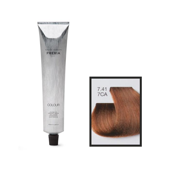 Vopsea permanenta Previa Vibrant Shiny Colour 7.41 7CA Medium Copper Ash Blonde 100 ml [0]