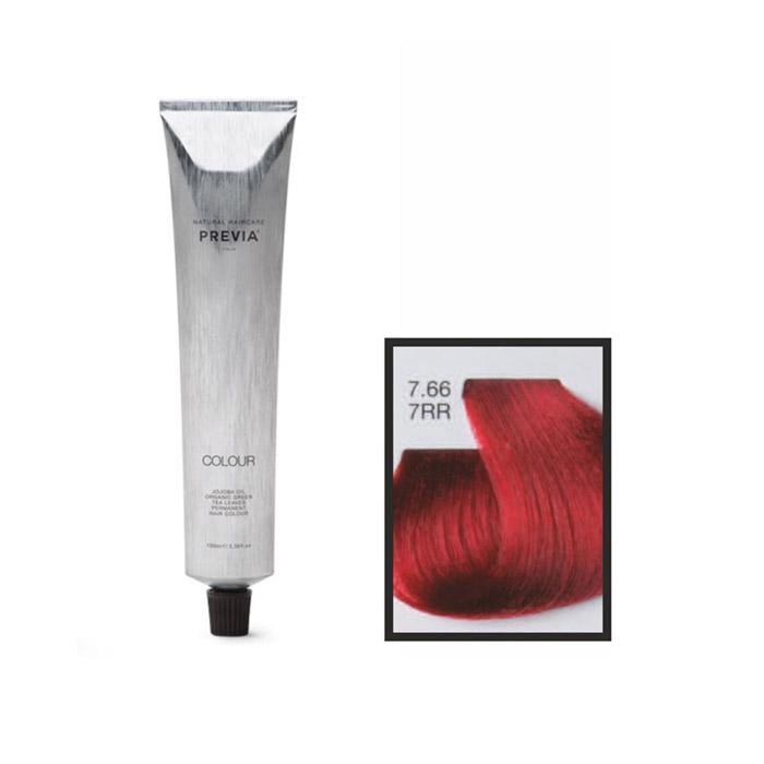 Vopsea permanenta Previa Vibrant Shiny Colour 7.66 7RR Medium Intense Red Blonde 100 ml [0]
