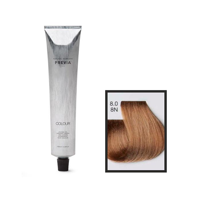 Vopsea permanenta Previa Vibrant Shiny Colour 8.0 8N Light Blonde 100 ml [0]