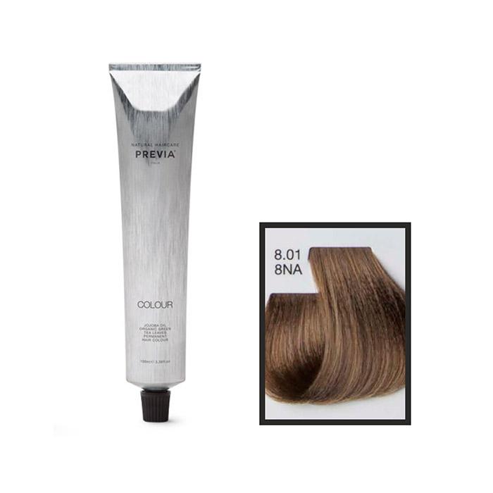 Vopsea permanenta Previa Vibrant Shiny Colour 8.01 8NA Light Natural Ash Blonde 100 ml [0]