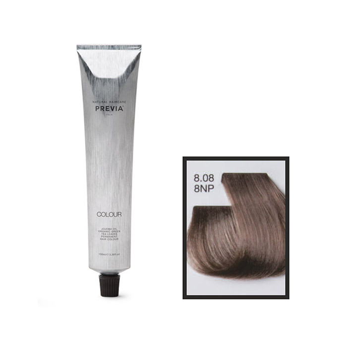 Vopsea permanenta Previa Vibrant Shiny Colour 8.08 8NP Light Natural Blonde Pearl 100 ml [0]