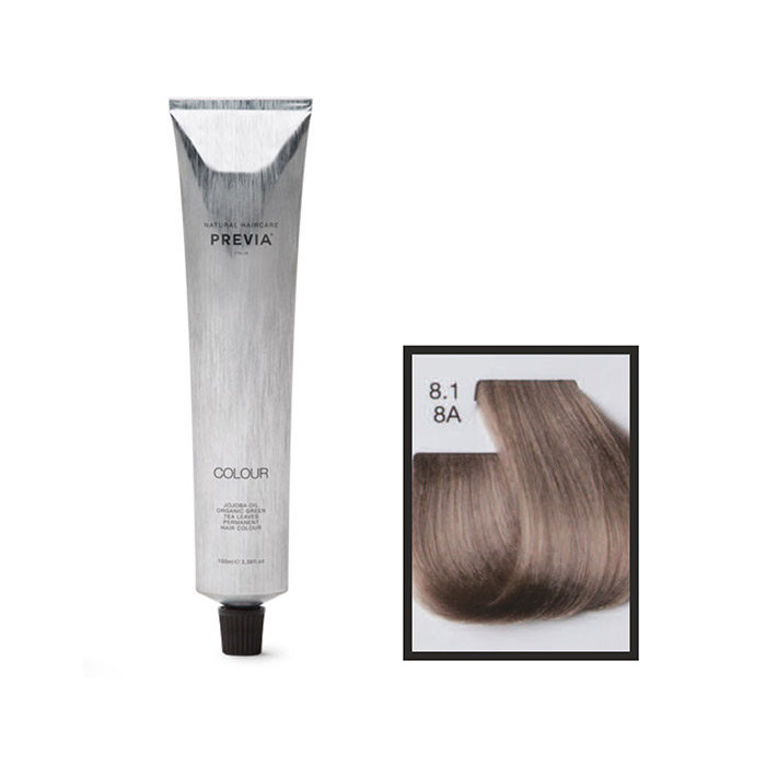 Vopsea permanenta Previa Vibrant Shiny Colour 8.1 8A Light Ash Blonde 100 ml [0]