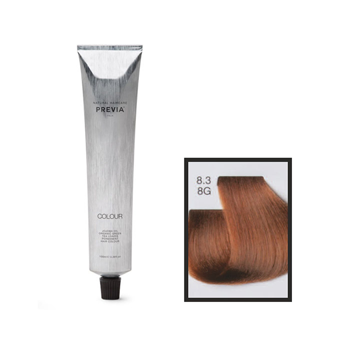 Vopsea permanenta Previa Vibrant Shiny Colour 8.3 8G Light Golden Blonde 100 ml 0