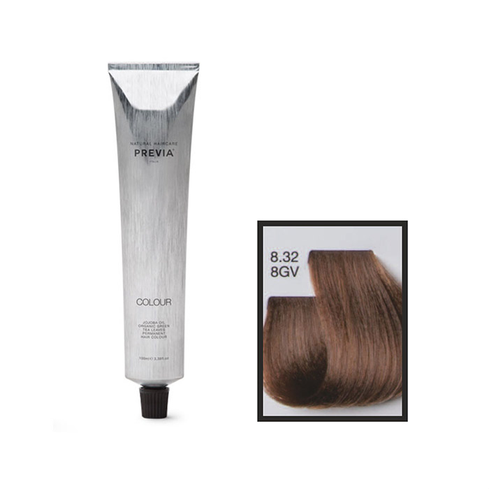 Vopsea permanenta Previa Vibrant Shiny Colour 8.32 8GV Ligth Golden Violet Blonde 100 ml 0