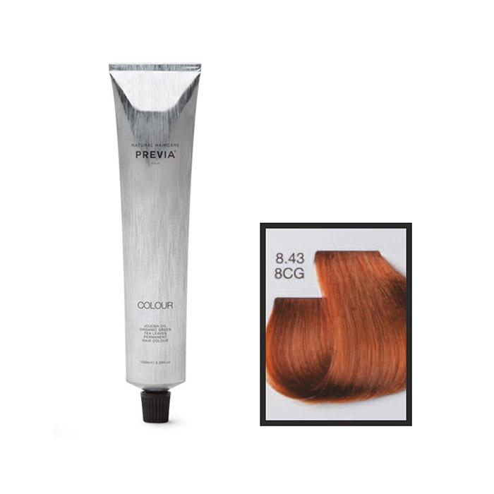 Vopsea permanenta Previa Vibrant Shiny Colour 8.43 8CG Ligth Golden Copper Blonde 100 ml [0]